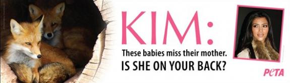 Kim Kardashian  Peta Billboard