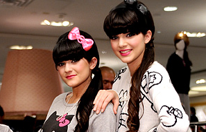 Kendall Jenner and Kylie Jenner Flashing Legs For Hello Kitty - 1