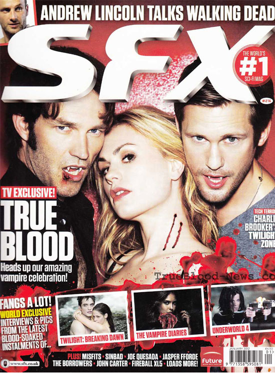 True Blood Covers SFX &#8211; Jan 2012 Issue