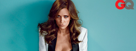 OMG! Kristen Wiig SIZZLES For GQ in Black Lingerie