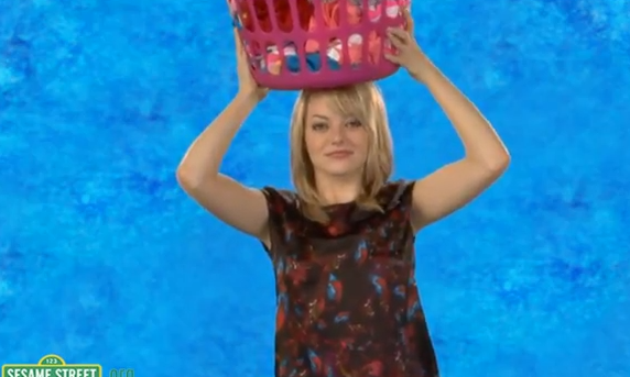 Emma Stone Tries to 'Balance' on Sesame Street – VIDEO