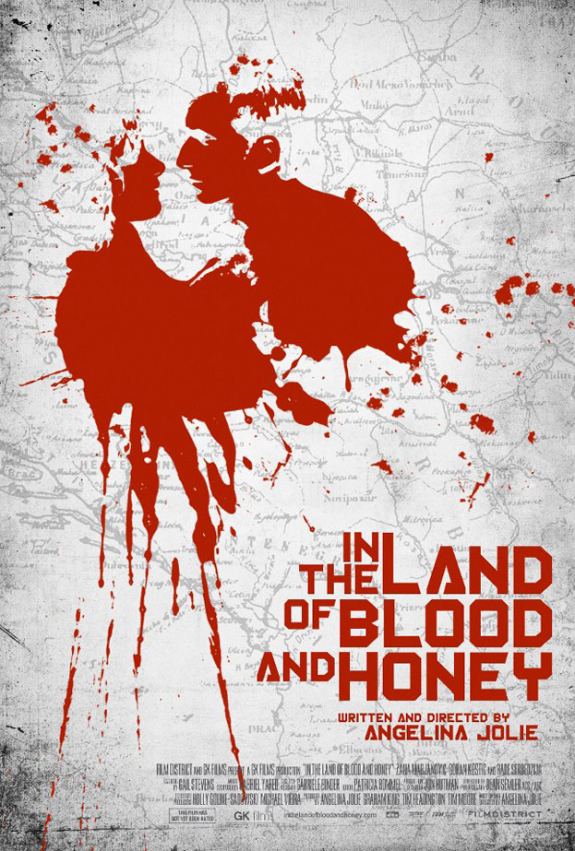Angelina Jolie: &#8216;In The Land of Blood and Honey&#8217; Official Movie Poster is Here (It&#8217;s Mostly Bloody)