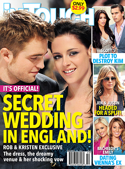Robert Pattinson and Kristen Stewart MARRIED in England