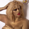 Anna Nicole Smith Nude - Gold Paint - Golden Palace.com