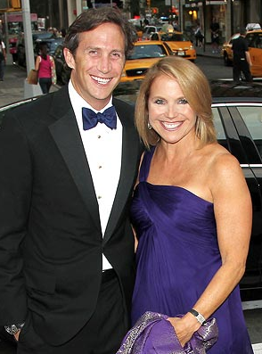 Katie Couric and Brooks Perlin
