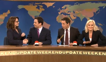 Jimmy Fallon, Tina Fey and Amy Poehler 'Joke Off' on SNL With Seth Meyers VIDEO