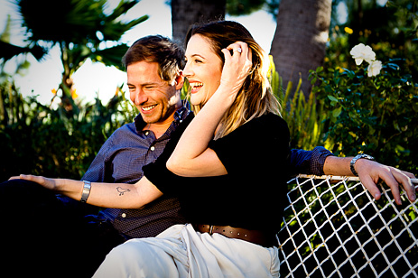 Drew Barrymore Glows For Engagement Picture