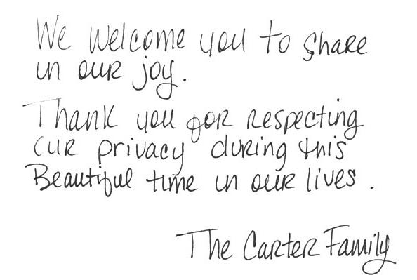 Blue Ivy Carter - Note