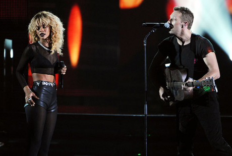 Rihanna and Chris Martin Rock 'We Found Love' , 'Princess of China' At 2012 Grammys