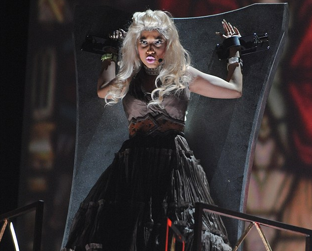 Nicki Minaj - 2012 Grammys - Roman Holiday