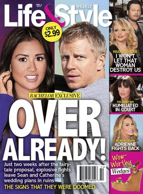 The Bachelor Sean Lowe and Fiance Catherine Giudici Are OVER!