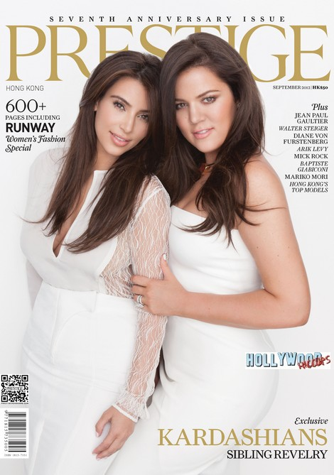 Kim Kardashian and Khloe Kardashian Cover Prestige Hong Kong (Photo)