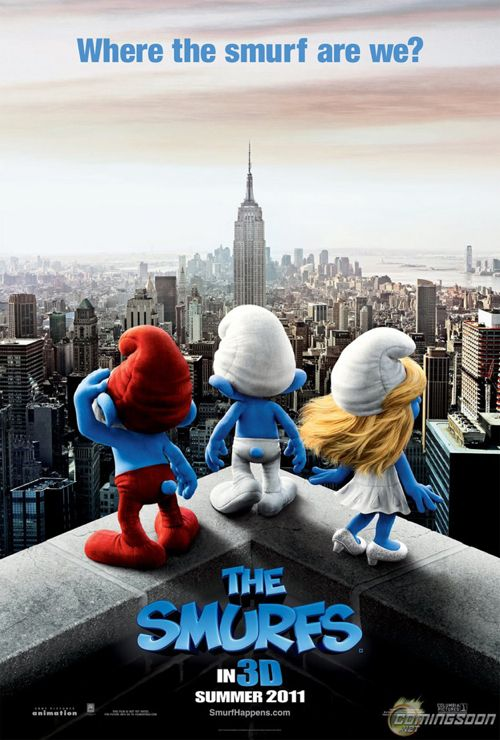 NEW POSTER – The Smurfs Movie in 3D