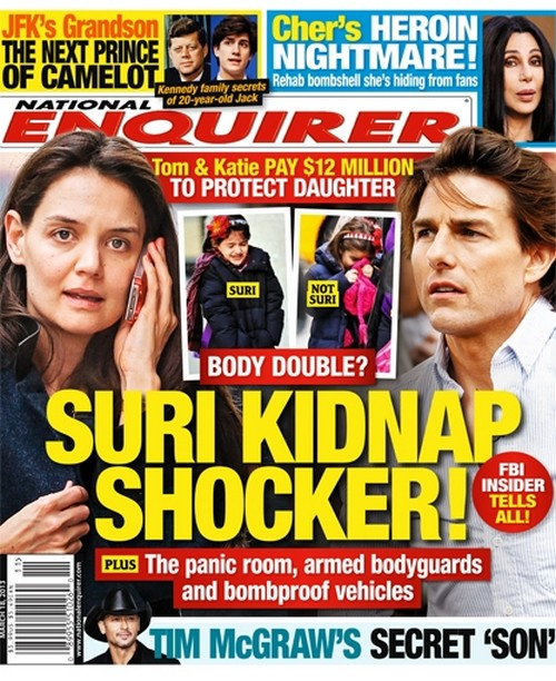 Suri Cruise Kidnap Shocker: Details HERE!