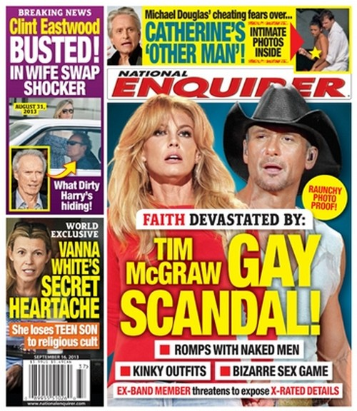 Tim McGraw Involved In a Gay Scandal - Should Faith Hill Be Worried