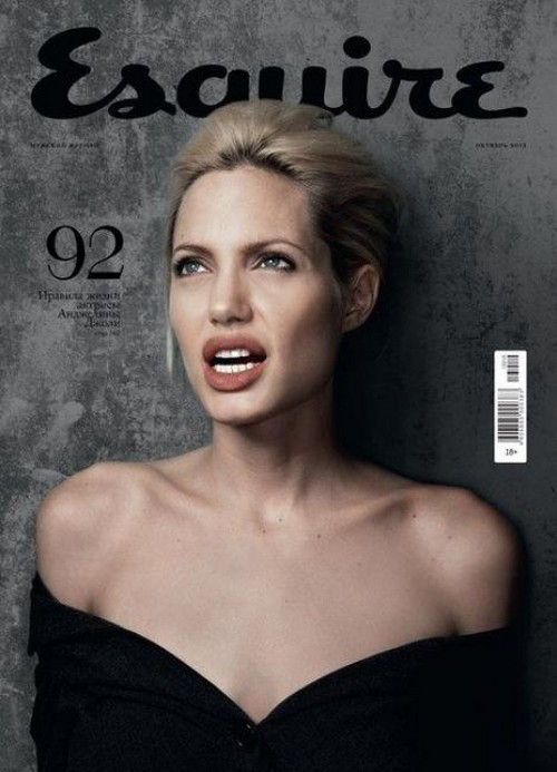 Angelina Jolie Covers Esquire Russia For October 2013