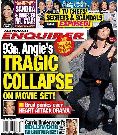 Angelina Jolie Collapses On Film Set, Brad Pitt Freaks Out? (PHOTO)