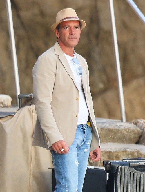 Exclusive... Antonio Banderas Catches A Boat To Cannes