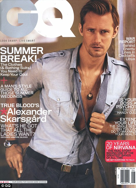 PHOTOS: Alexander Skarsgard is Delicious for GQ Magazine – June 2011
