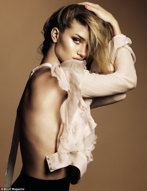 PHOTOS: Rosie Huntington-Whiteley Smolders for ELLE UK – July 2011
