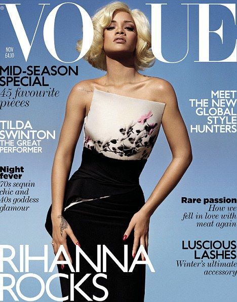 PHOTOS: Rihanna Smolders For Vogue UK – Nov. 2011