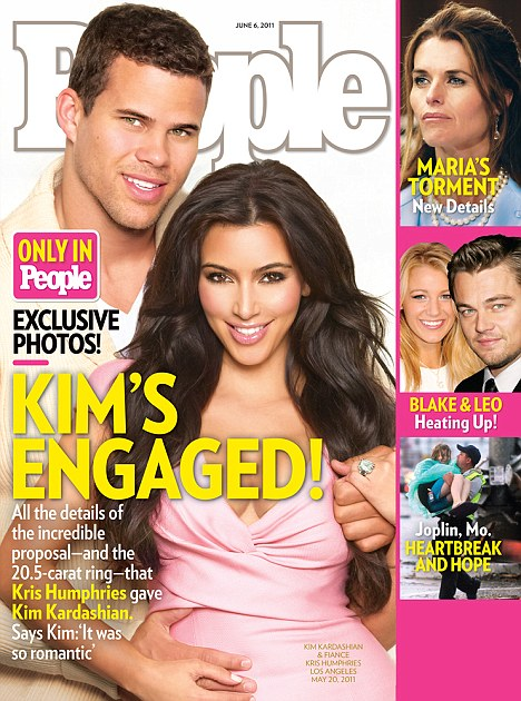 Kim Kardashian and Kris Humphries Make It Official With a ROCK – Photos