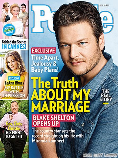 Blake Shelton Trusts Wife Miranda Lambert (Photo)