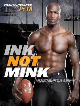 Chad Ochocinco Goes NAKED For PeTA – Photos