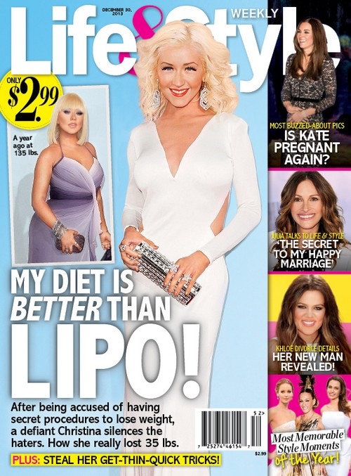 Christina Aguilera Photoshopped Beyond Belief, Claims Her 'Diet' Is Better Than Liposuction (PHOTO)
