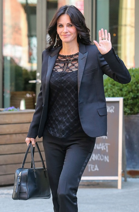 Courteney Cox Leaving Her Hotel In New York City
