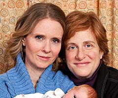 Cynthia Nixon Shows Off Baby Max