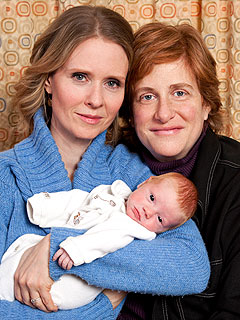 Cynthia Nixon Shows Off Baby Max