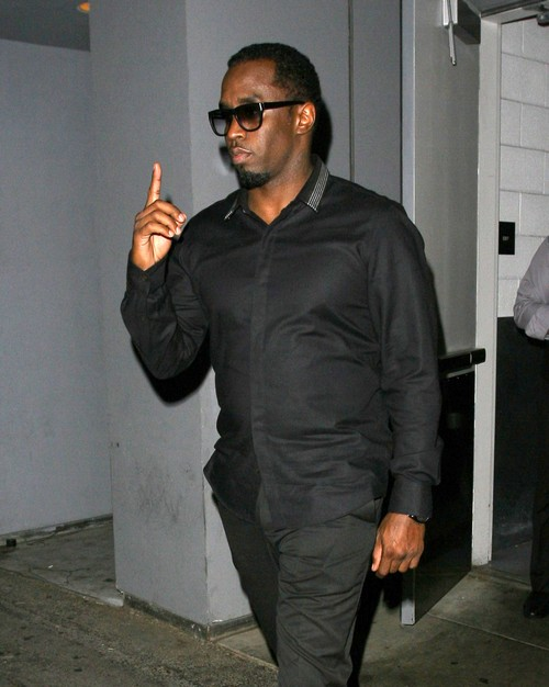 P. Diddy & Cassie Eat Dinner At Hakkasan Restuarant