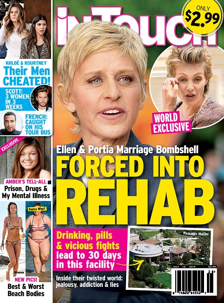 Ellen DeGeneres Forced Portia de Rossi Into Rehab - The Last Attempt To Save Their Twisted Marriage! (PHOTO)