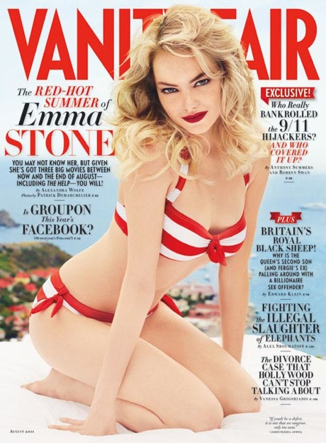 Emma Stone is RED HOT For Vanity Fair