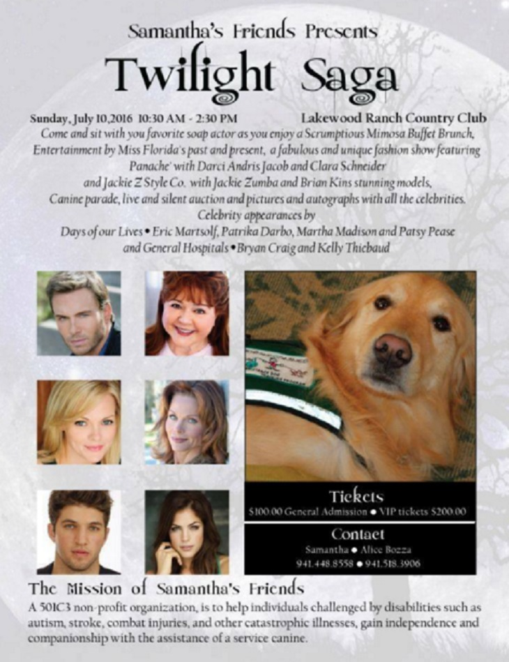 'Days Of Our Lives' Eric Martsolf And 'GH' Bryan Craig At Twilight Saga - Charity Raises Funds For Canine Assistance For Disabled Persons