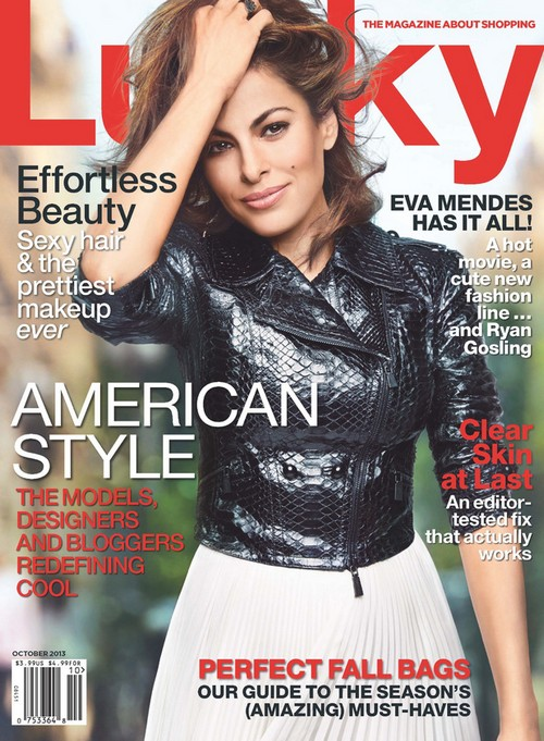 Eva Mendes Covers Lucky Magazine And Refuses To Discuss Boyfriend Ryan Gosling