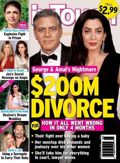 George Clooney And Amal Alamuddin Not Going Through $200 Million Divorce
