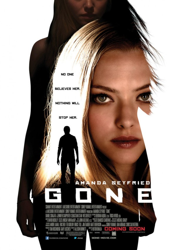 FIRST POSTER: Amanda Seyfried in &#8216;Gone&#8217;