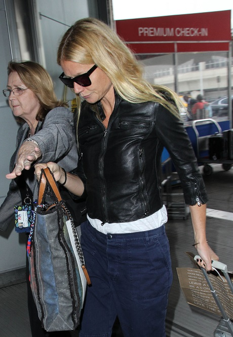 Gwyneth Paltrow Departing From LAX