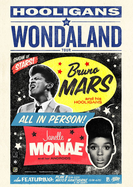 Bruno Mars and Janelle Monae Announce Tour Dates For 'Hooligans in Wondaland'