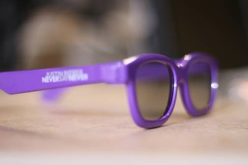 Justin Bieber Purple 3D Glasses