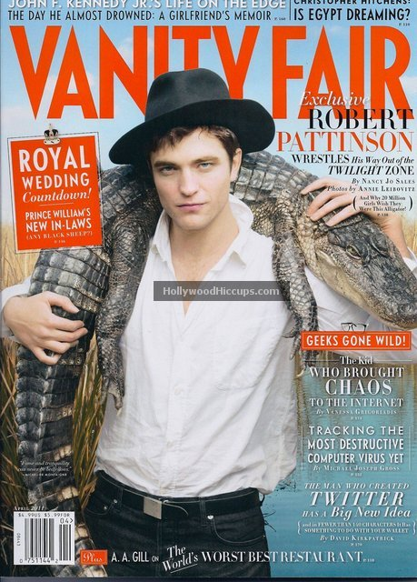 Robert Pattinson Covers Vanity Fair – April 2011 – Full Spread Photos