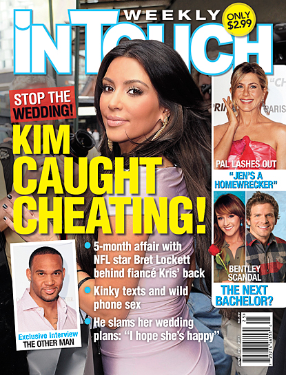 Cheating Scandal: Kim Kardashian vs Bret Lockett and In Touch
