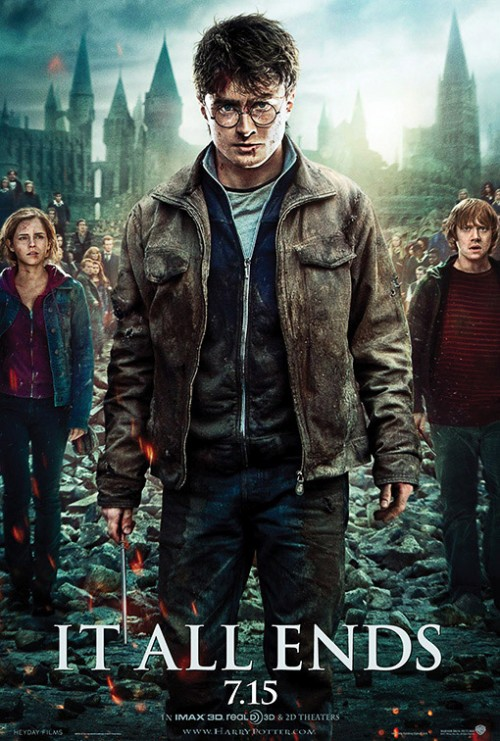 BRAND NEW 'Harry Potter and the Deathly Hallows – Part 2′ Poster Ft. Daniel Radcliffe, Emma Watson & Rupert Grint