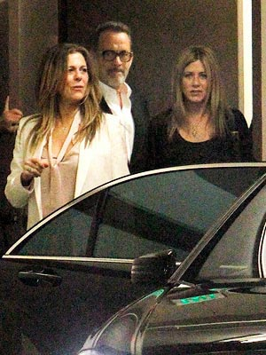 Jennifer Aniston And Justin Theroux Have A Fun Foursome With Tom Hanks And His Wife