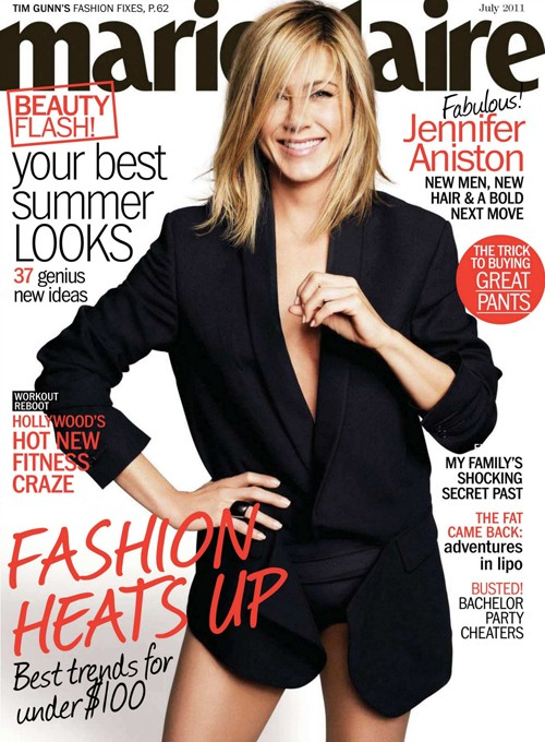 PHOTOS: Jennifer Aniston Rocks Marie Claire With The Men – July 2011