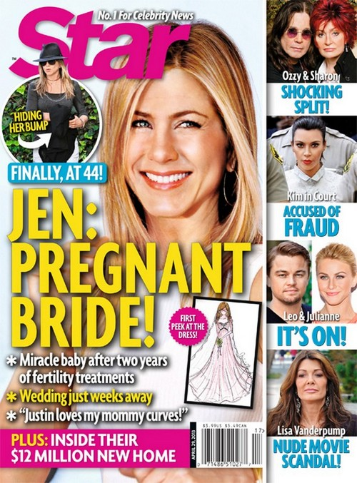 Star Magazine: Jennifer Aniston Is Pregnant After IVF (Photo)