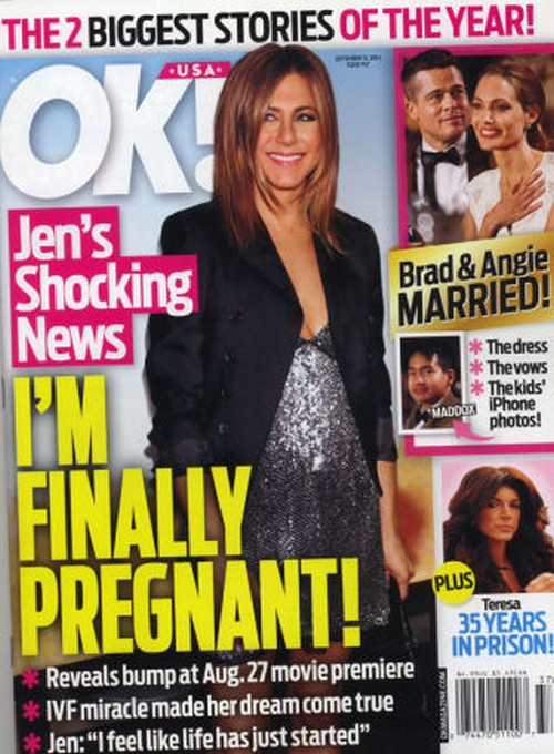 Jennifer Aniston Is Pregnant With IVF Baby - Report