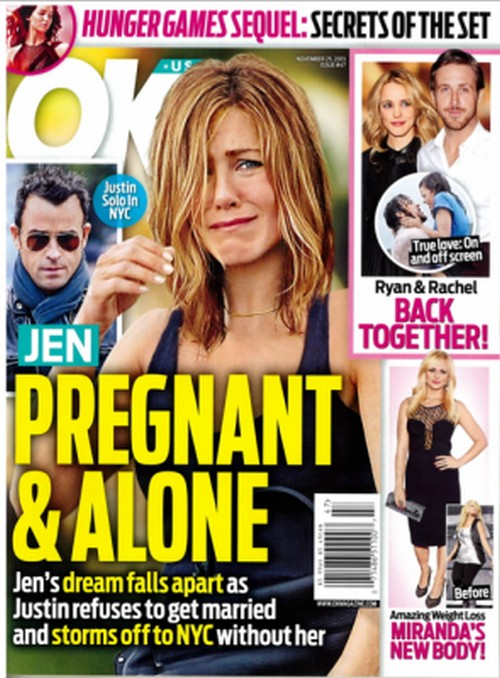 Jennifer Aniston Pregnant And Abandoned By Justin Theroux